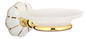 luxusní miska na mýdlo NISA GOLD s potahem 24 kt zlata
