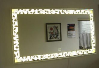luxusní zrcadlo PERLA 123/69 LED osvětlení s dotykovým senzorem