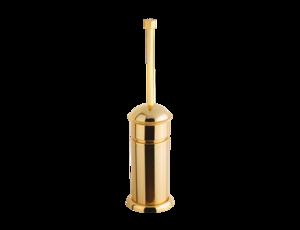 luxusní kartáč na toaletu TRIA GOLD s potahem 24 kt zlata