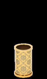 luxusní kelímek na kartáčky DESENLI GOLD s potahem 24 kt zlata