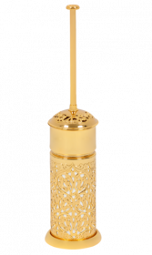 luxusní kartáč na toaletu CONCHIGLIA GOLD s potahem 24 kt zlata