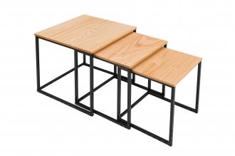 3SET konferenční-odkládací stolek FUSION OAK