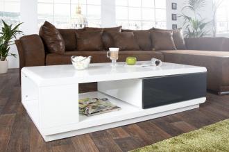 konferenční stolek FORTUNA WHITE ANTRACIT
