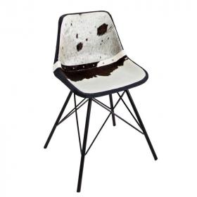 židle TORO BLACK WHITE pravá kůže