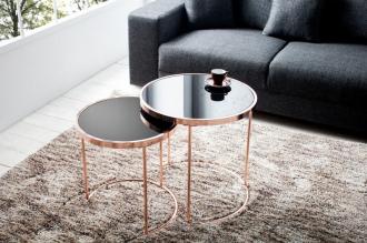 2SET odkládací stolek ART DECO COPPER