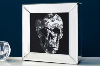 obraz zrcadlový MIRROR SKULL 20-CM