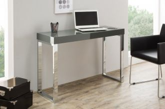 konzolový stůl DESK DARK GREY 120-40 CM