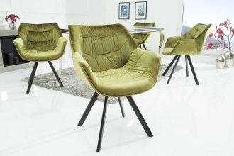 Židlo-křeslo COMFORT SAMT GREEN