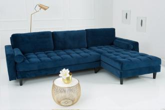 Luxusní sedačka COZY VELVET BLUE
