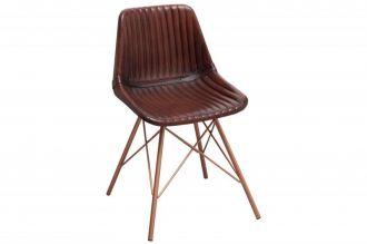 Židle TORO BROWN pravá kůže