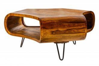 Konferenční-odkládací stolek SPIN 90CM masiv sheesham