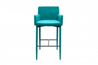 Barová židle MILANO TYRKYS s područkou