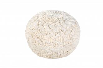 Pletený puff COSY WHITE III