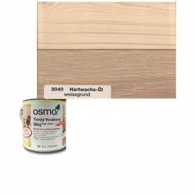 Tvrdý voskový olej barevný - 3040/ 0,75L - Bílý transparentní