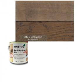 Tvrdý voskový olej barevný - 3075/ 0,75L -  Černý