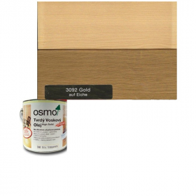 Tvrdý voskový olej barevný - 3092/ 0,75L -  Zlatý