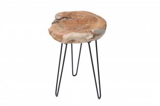 Odkládací stolek WILD II 40CM, masiv teak nature