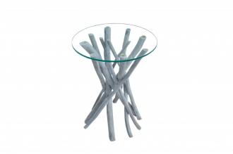 Odkládací stolek DRIFTWOOD GREY 35-CM naplavené dříví