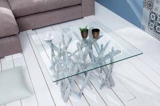 Konferenční stolek DRIFTWOOD GREY 80CM naplavené dříví
