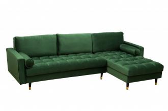 Luxusní rohová sedačka COZY VELVET GREEN