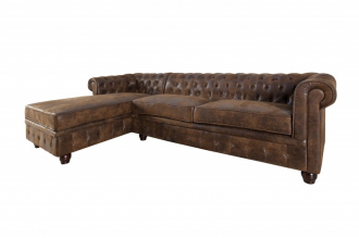 Sedací souprava CHESTERFIELD LOUNGE BROWN LEVÁ