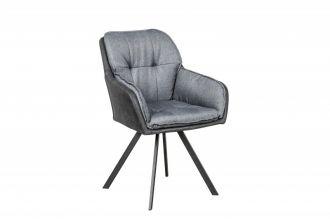 Jídelní židle LOUNGER tmavě šedá