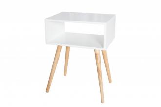 Odkládací stolek SCANDINAVIA SQUARE WHITE
