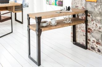 Konzolový stolek FACTORY 120 CM pravá akáciová dýha