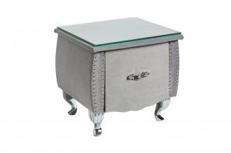 Noční stolek BAROCCO stříbro-šedá