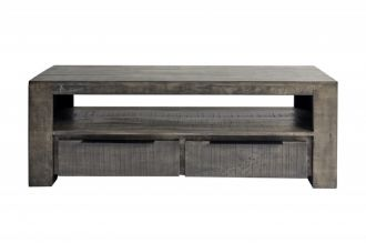 Televizní stolek IRON CRAFT šedý 130 CM masiv mango