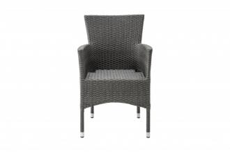 Ratanové křeslo-židle NIZZA šedá, II. jakost