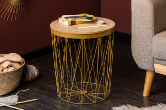 Odkládací stolek STORAGE GOLD