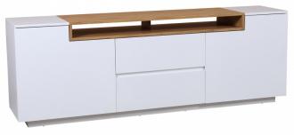 Televizní stolek LOFT 180 CM bílo-dubová