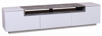 Televizní stolek LOFT II 180 CM bílo-betonová