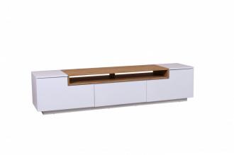 Televizní stolek LOFT II 180 CM bílo-dubová