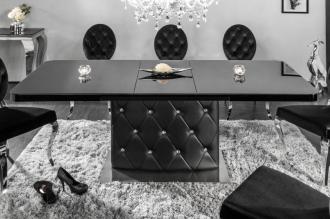 Jídelní stůl CHESTERFIELD 160-200 CM rozkládací, černý