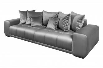 Luxusní pohovka ELEGANCIA 280 CM stříbro-šedá