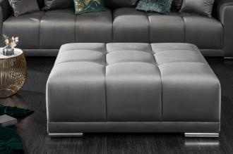 Luxusní taburet ELEGANCIA 110 CM stříbro-šedá