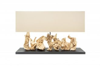 Stolní lampa ARAGON 80 CM masivní dřevo