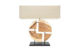 Stolní lampa ORGANIC 80 CM masiv ořech