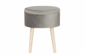 Taburet s úložným prostorem TONET šedý