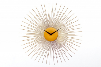 Nástěnné hodiny SUN 50 CM zlaté