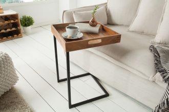 Odkádací stolek CIANO s odnímatelným podnosem masiv akácie