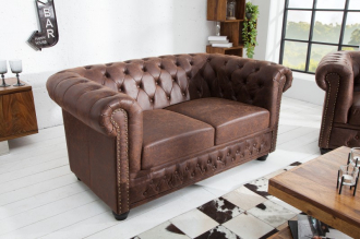 Pohovka CHESTERFIELD VINTAGE BROWN 150 CM