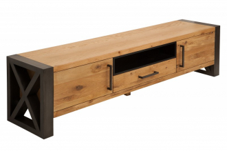 Televizní stolek THOR NATURE 200 CM masiv divoký dub
