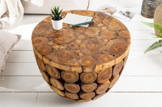 Konferenční/odkládací stolek PURE NATURE 50 CM masiv teak