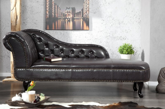 lenoška RECAMIERE CHESTERFIELD dark coffee