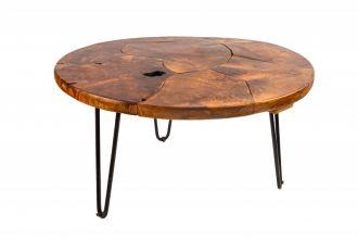 Konferenční-odkládací stolek WOOD MOSAI 70 CM masiv teak