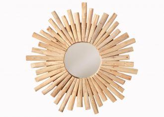 Designové zrcadlo RIVERSIDE 60 CM masiv teak