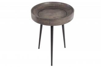 Odkládací stolek PURE 35 CM šedý masiv akácie